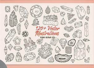 120+ романтических векторных иллюстраций
