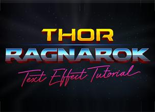 Текстовый эффект Thor Ragnarok в Adobe Illustrator