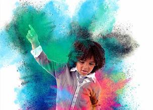 Эффект цветного распылителя в Adobe Photoshop