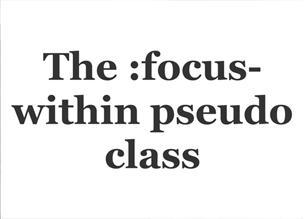 Псевдо-класс :focus-within и поддержка браузеров