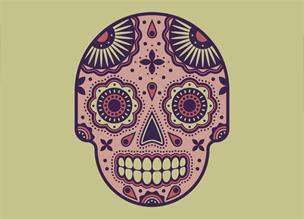 Векторный череп в Adobe Illustrator