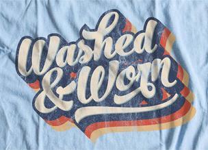 9 «выцветших» эффектов с текстурами как на футболке