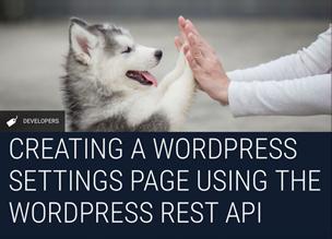 Делаем страницу с настройками с WordPress REST API