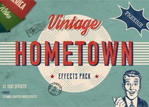 Hometown — винтажный набор эффектов