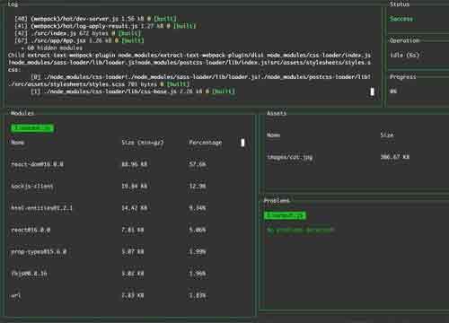 Webpack Dashboard — удобный консольный дашборд