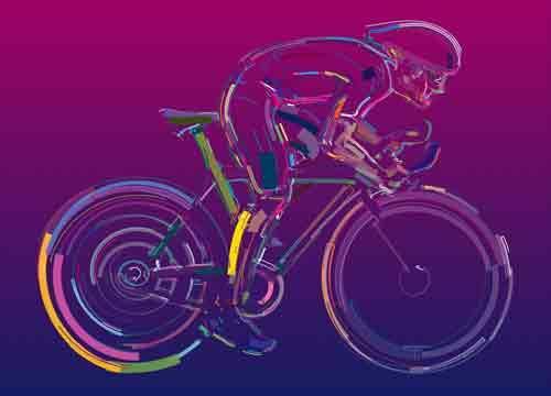 Анимированный SVG велосипедист с GSAP