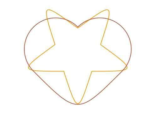 Из звезды в сердечко с помощью SVG и JavaScript