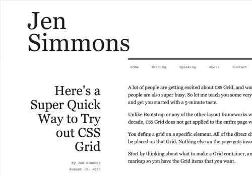 Очень быстрый способ попробовать CSS Grids