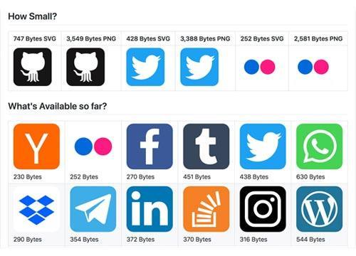 Супер легкие SVG иконки различных брендов